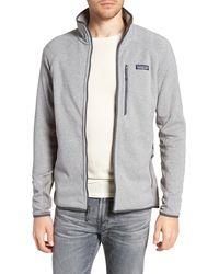 Patagonia Better Sweater Performance Slim Fit Zip Jacket - Gray