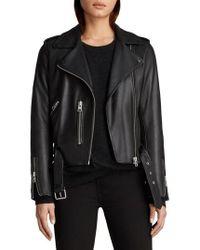 AllSaints - Balfern Leather Biker Jacket - Lyst