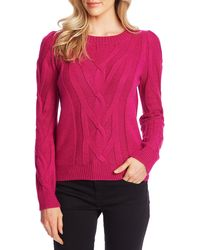 Cece - Entwine Cable Knit Sweater - Lyst