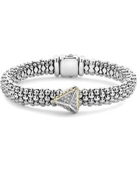 Lagos - Diamond Pyramid Bracelet - Lyst