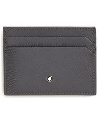 Montblanc - Saffiano Leather Card Case - Lyst