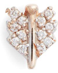 Kismet by Milka - Diamond Mini Quill Stud Earring - Lyst
