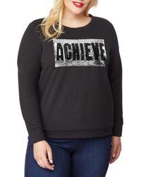 REBEL WILSON X ANGELS Embellished Sweatshirt - Black