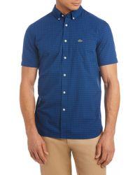 Lacoste - Regular Fit Check Short Sleeve Sport Shirt - Lyst