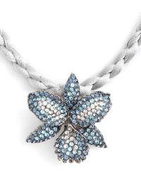 Nina - Orchid Swarovski Crystal Pendant Necklace - Lyst