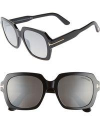 0a9e535584dd Tom Ford - Autumn 53mm Square Sunglasses - Lyst