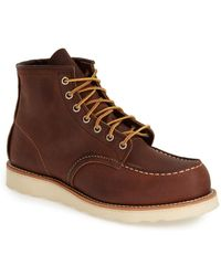 Red Wing 6 Inch Moc Toe Boot - Brown