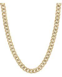 Bony Levy Katharine Pavé Diamond Miami Chain Necklace (nordstrom Exclusive) - Metallic