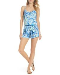 Lilly Pulitzer - Lilly Pulitzer Deanna Sleeveless Romper - Lyst