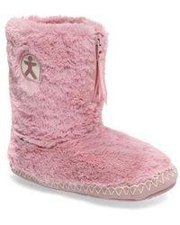 Bedroom Athletics - 'marilyn' Faux Fur Slipper Boot - Lyst