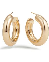 Lana Jewelry - Hollow 14k Gold Wide Mini Hoop Earrings - Lyst