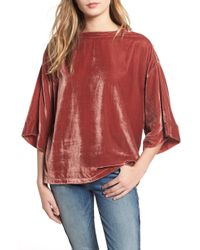 7 For All Mankind - 7 For All Mankind Velvet Top - Lyst