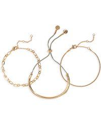 BP. Set Of 3 Slider Bracelets - Metallic