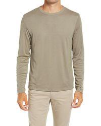 Theory Gaskell Long Sleeve Crewneck Men's Shirt - Multicolor