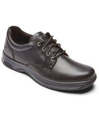 Dunham 8000 Service Waterproof Plain Toe Derby - Black