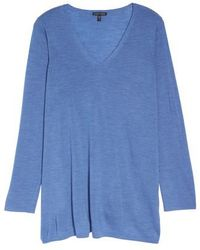 Eileen Fisher | Merino Wool Tunic Sweater | Lyst