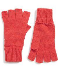 Trouvé Basic Fingerless Gloves - Red