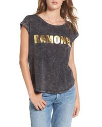 Mimi Chica | Ramones Stonewashed Tee | Lyst