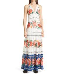 FARM Rio Manuela Floral Print Maxi Dress - Multicolor