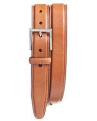 Cole Haan - Pressed Edge Leather Belt - Lyst