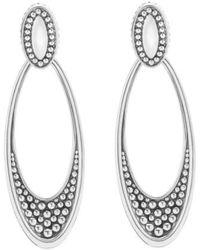 Lagos - 'signature Caviar' Omega Drop Earrings - Lyst