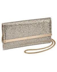 Jimmy Choo - Milla Glitter Wallet On A Chain - - Lyst