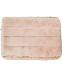 MYTAGALONGS Faux Fur 15-inch Laptop Sleeve - Natural
