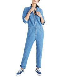 Madewell - Denim Coverall Jumpsuit - Lyst