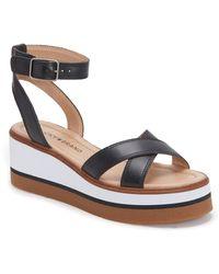Lucky Brand Tarhi Wedge Sandal - Black