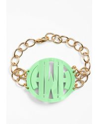 Moon & Lola - 'annabel' Large Personalized Monogram Bracelet - Lyst