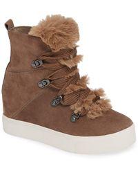 J/Slides Women's Whitney Waterproof Platform Sneakers - Brown