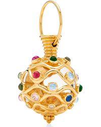 Temple St. Clair - 18k Yellow Gold Theodora Amulet With Diamonds & Multi Gemstones - Lyst