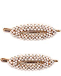 Tasha 2-pack Faux Pearl Bobby Pins, Ivory - Metallic