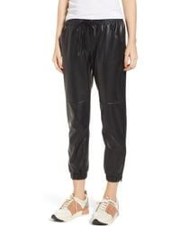 David Lerner - Ankle Zip Jogger Pants - Lyst