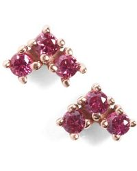 Anna Sheffield - 'bea' Ruby Arrow Stud Earrings - Lyst