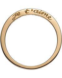 Nora Kogan - Je T'aime Side Script Stackable Ring - Lyst