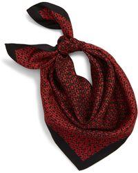 Longchamp Le Pliage Lgp Logo Silk Square Scarf - Red