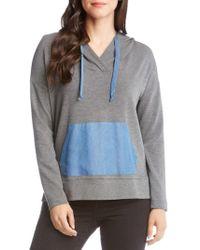 Karen Kane - Contrast Hooded Sweater - Lyst