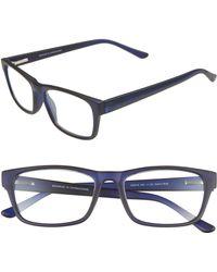 e9cd6f0343e9 Lyst - BCBGMAXAZRIA Saucy Navy & Coral Rectangle Sunglasses in Blue ...