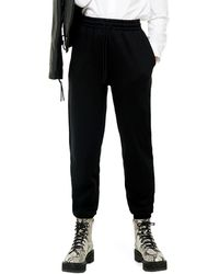 TOPSHOP 90's Oversized Sweatpants - Black