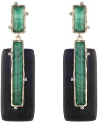 Alexis Bittar - Retro Gold Collection Stone Studded Clip Earrings - Lyst