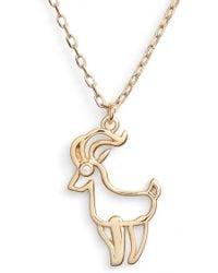 Kate Spade - Zodiak Pendant Necklace - Lyst