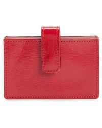Nordstrom - Accordion Leather Card Case - Purple - Lyst
