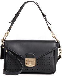 Longchamp Mademoiselle Small Leather Crossbody - Black
