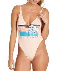 Billabong - Back When One-piece Swimsuit - Lyst