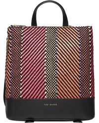 Ted Baker - Woven Zip Backpack - Lyst