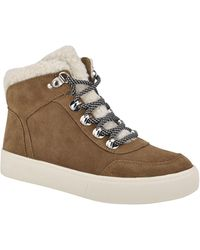 Marc Fisher Summa Genuine Shearling High Top Sneaker - Brown