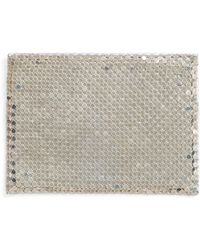 Whiting & Davis - Faux Leather & Mesh Card Case - - Lyst