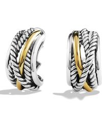 David Yurman - 'crossover' Earrings With Gold - Lyst