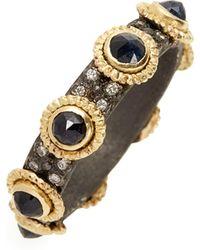 Armenta Old World Sapphire & Diamond Stacking Ring - Metallic